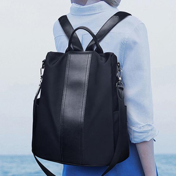 블랙 백팩 크로스백 겸용 실용적인 수납좋은 가방